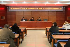 民族学所学习传达中央中纪委十八届五次全会等会议精神大会