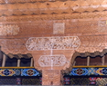 尚未完工的藏式民居梁柱细部
