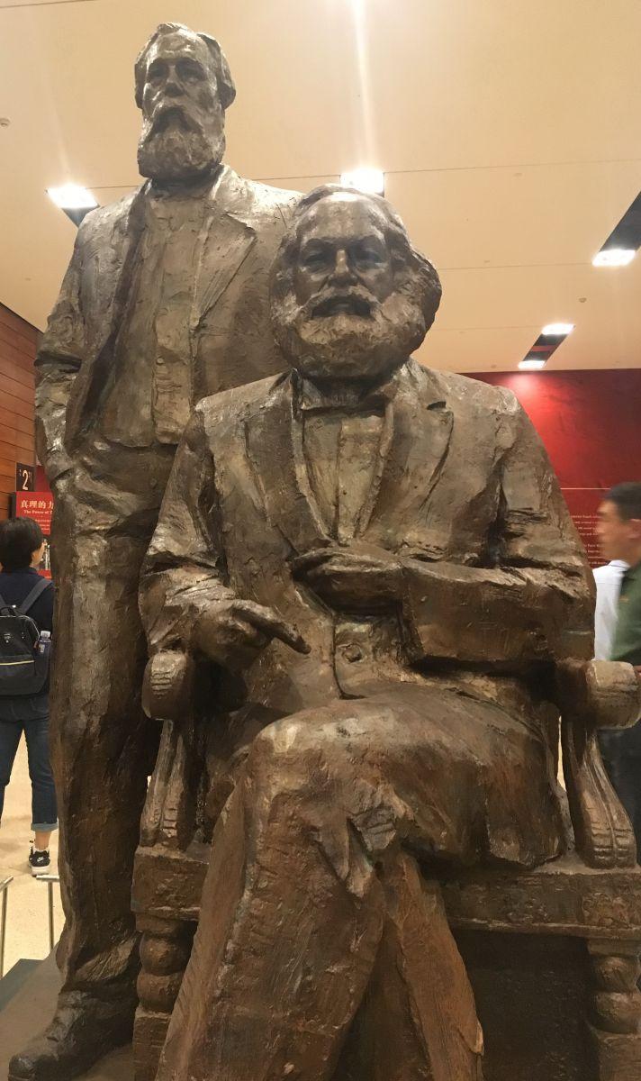 马克思雕像,孔敬摄影